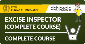 """""""Excise & Taxation Inspector (Free Test Series)"""""""